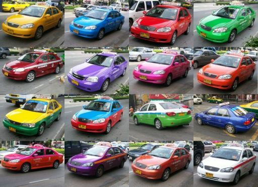 00-Colorful Bangkok Taxis